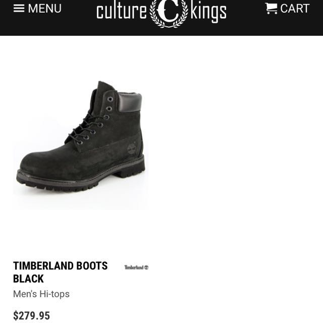 Black 6-inch Timberland Boots