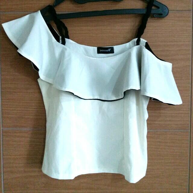 Blouse Shoulder Top Off import korea
