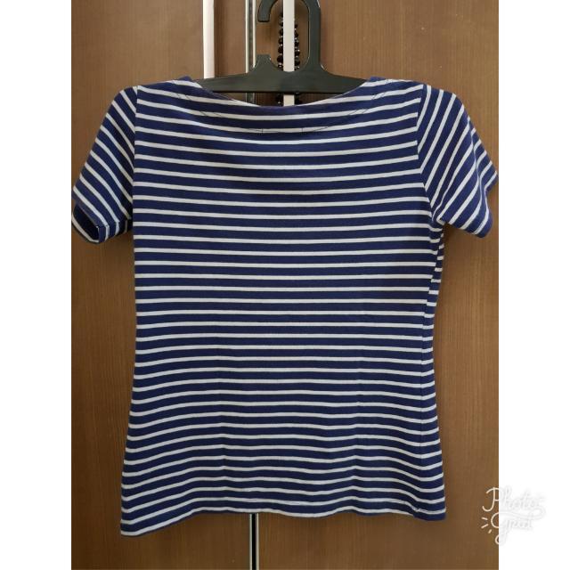 Blue T Shirt Stripe