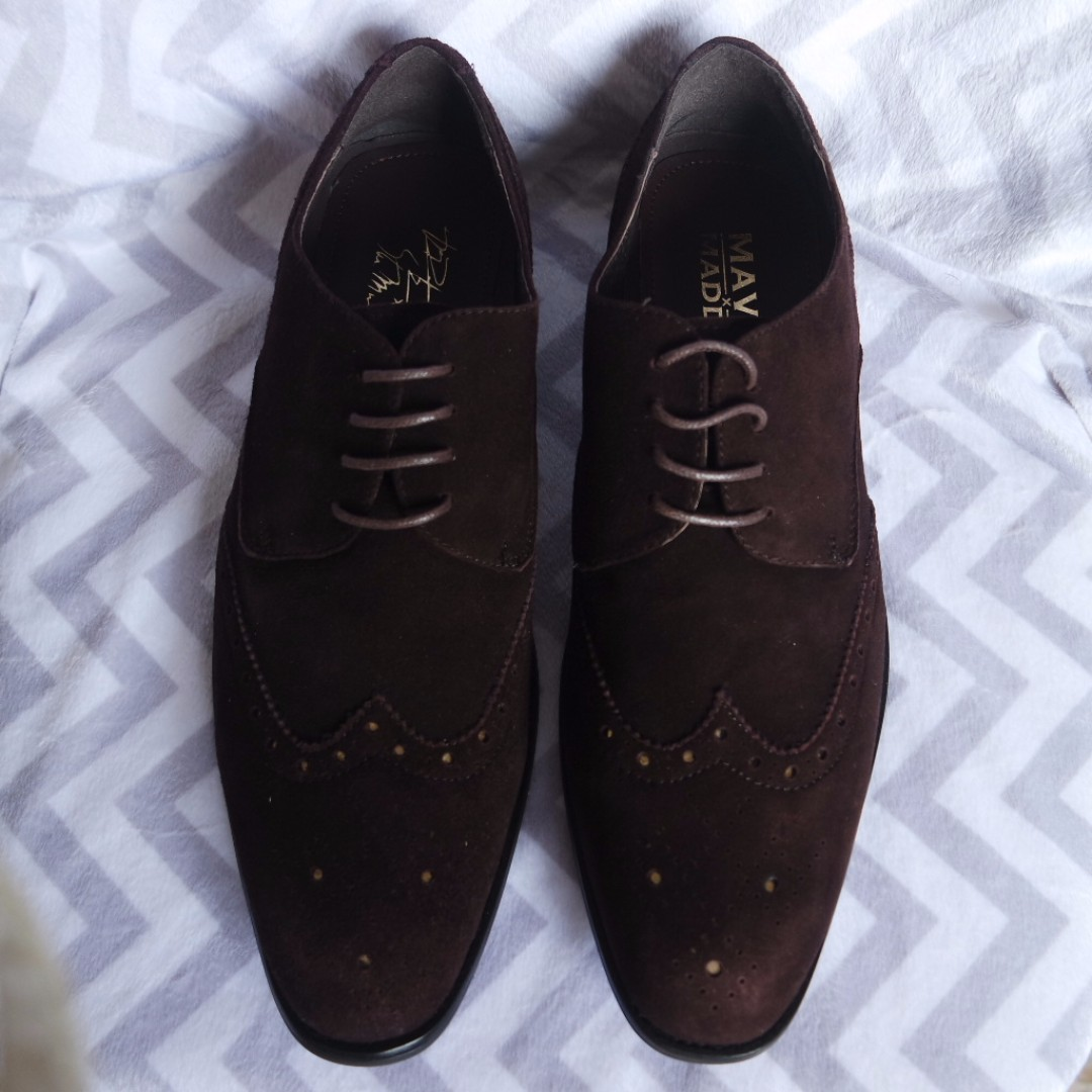 c026a787d6e BNIB Steve Madden Brown Leather Suede Shoes US10.5