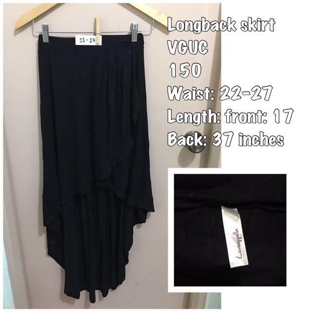 Branded longback skirt