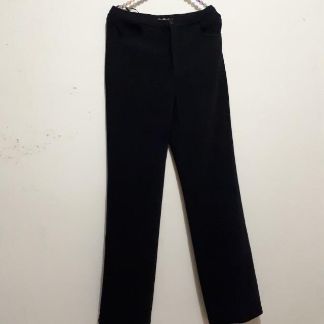 Brilliant Celana panjang kerja / pesta warna hitam