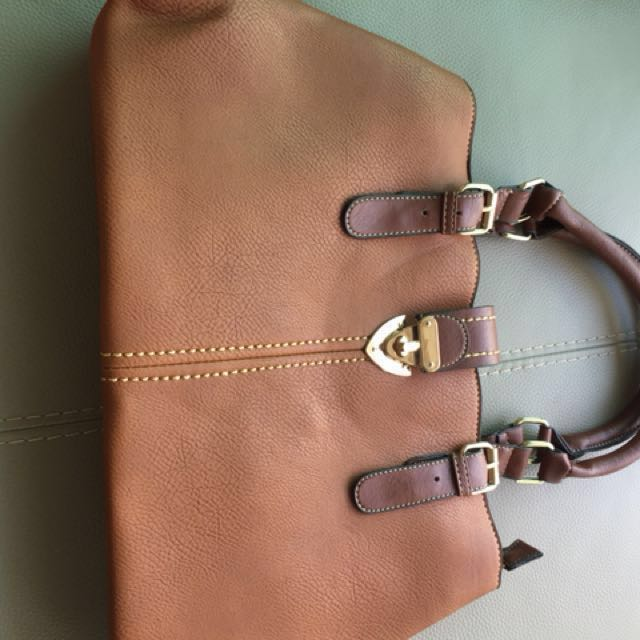 Brown big shoulders bag(no brand)