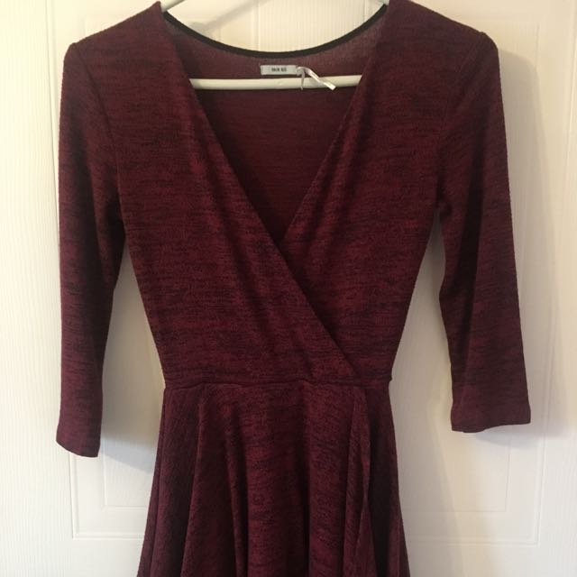 Burgundy dress - XS - Urban Outfitters