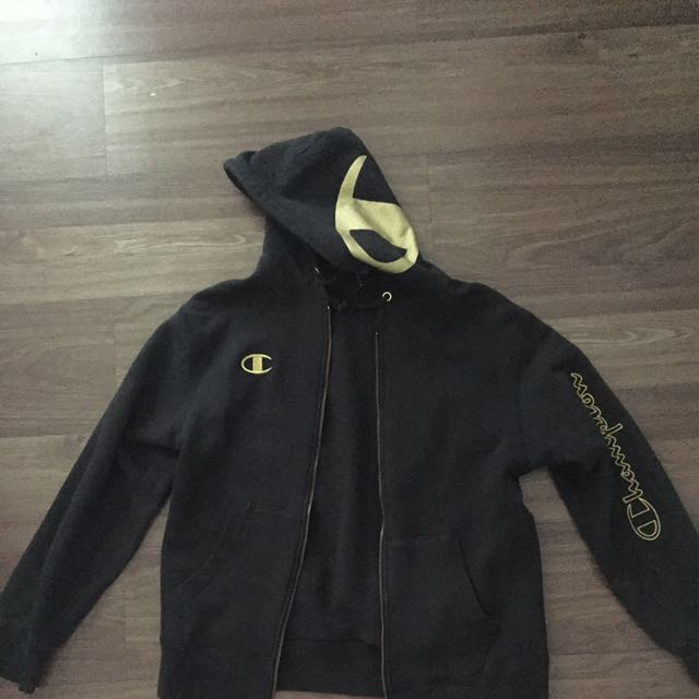 champion jacket in gold patches