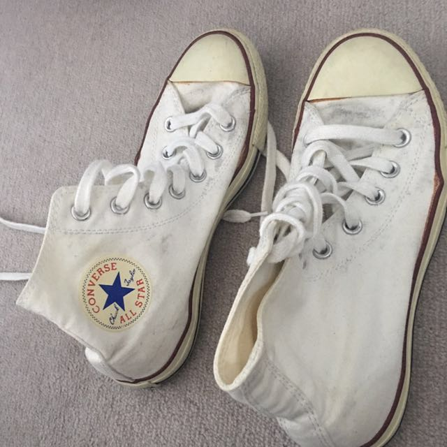Converse white high size 8 eur 39