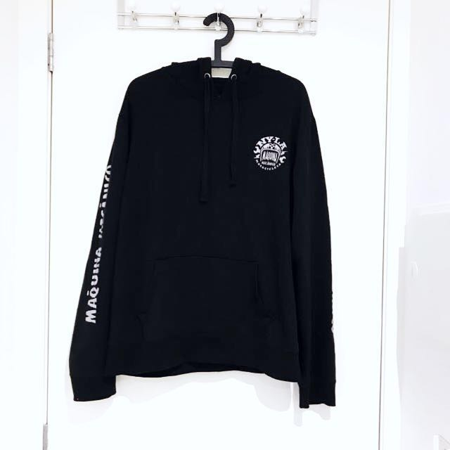 COTTON ON Oversized Black Fleece Hoodie (men's)