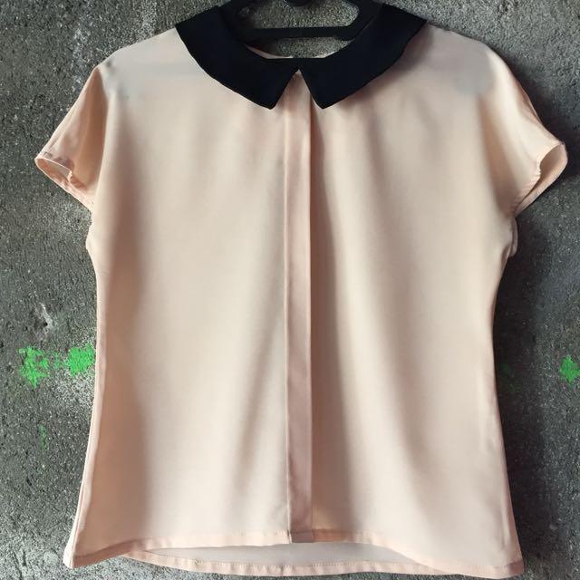 Cream Top by Cloth Inc