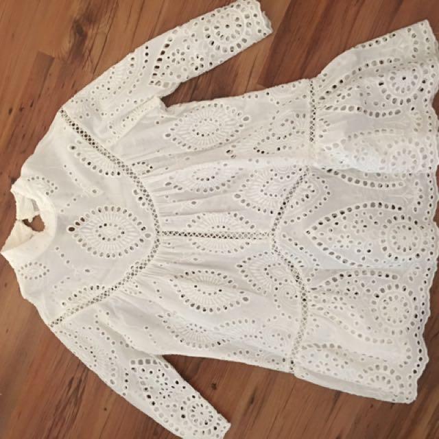 Crochet 3/4 sleeve top