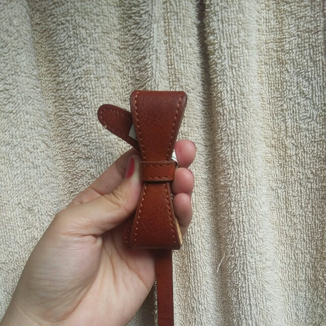 Dorothy perkin brown ribbon belt