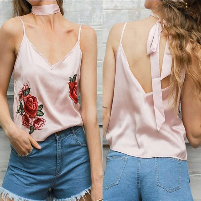 Embroidery cami top