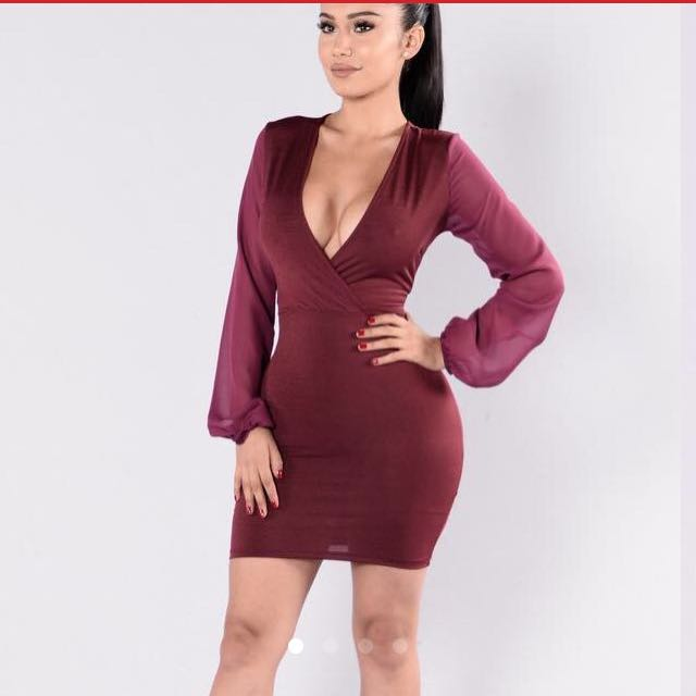 Fashionnova wine dress