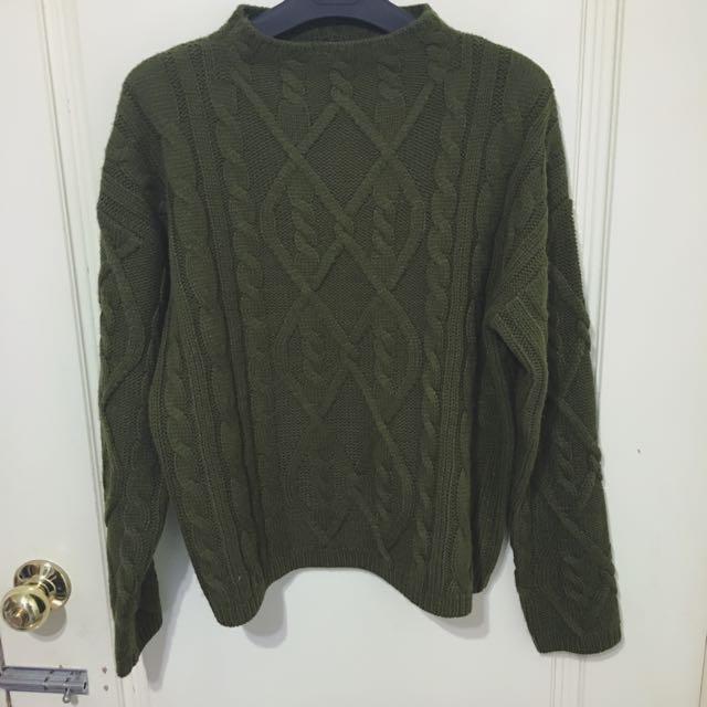 Forever21 墨綠針織毛衣