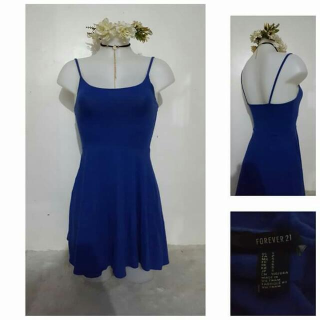 Forever 21 Blue Flowy Dress