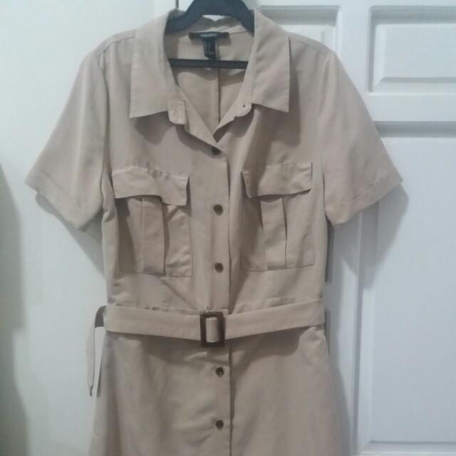 Forever 21 Khaki Safari dress