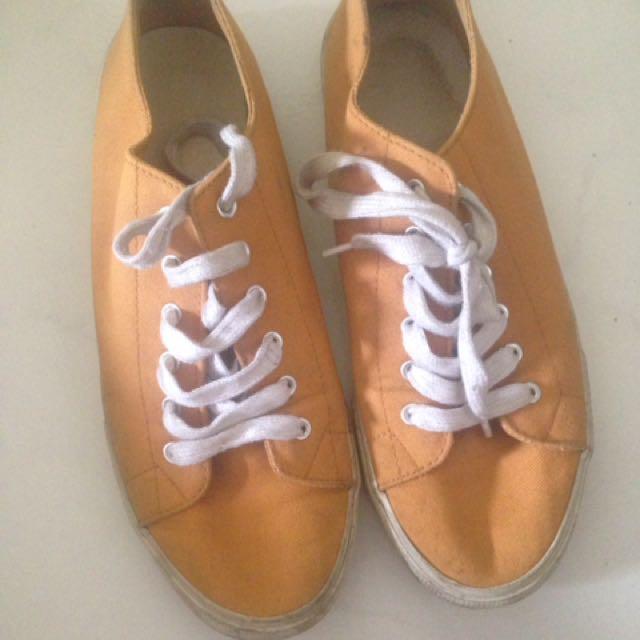 Forever 21 Mustard sneakers