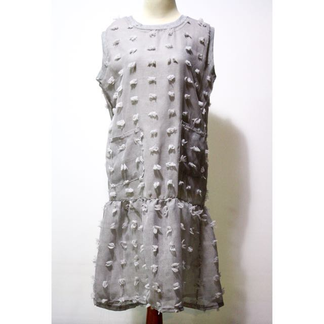 Frill Dress Grey