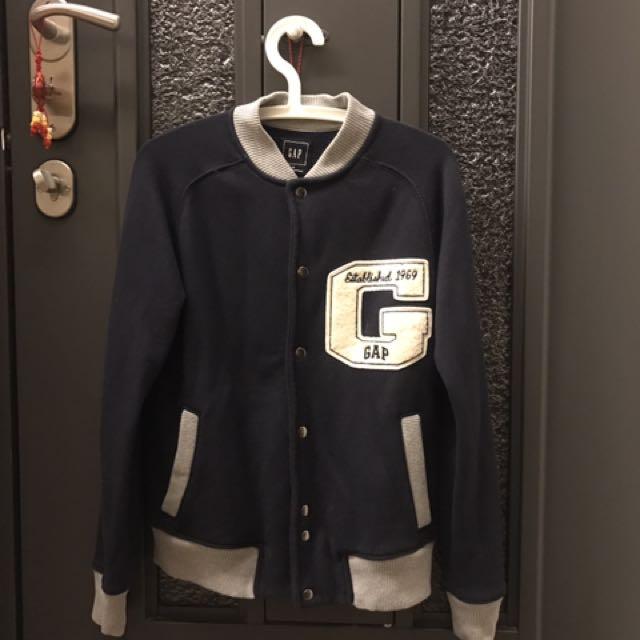 深藍色GAP棒球外套