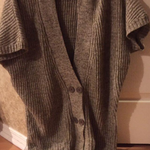 #blackfriday50 Gray Beige Button Knit Cardigan One Size