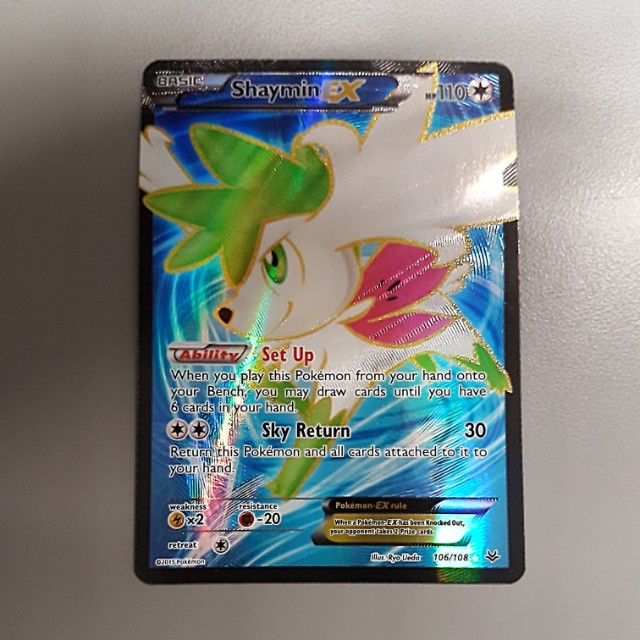 Pokemon Card Holofoil Full Art Shaymin Ex Fa Toys Games Board