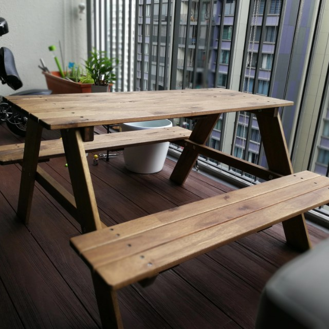 Tremendous Ikea Kids Bench Reso Picnic Table On Carousell Unemploymentrelief Wooden Chair Designs For Living Room Unemploymentrelieforg