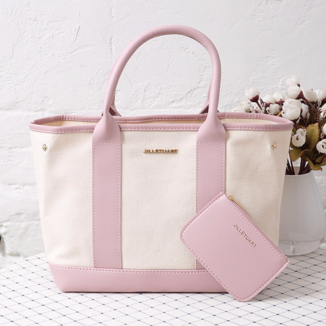 Jill Stuart Pink Tote Bag With Pouch Two Piece Set Women S Fashion Bags Wallets On Carou