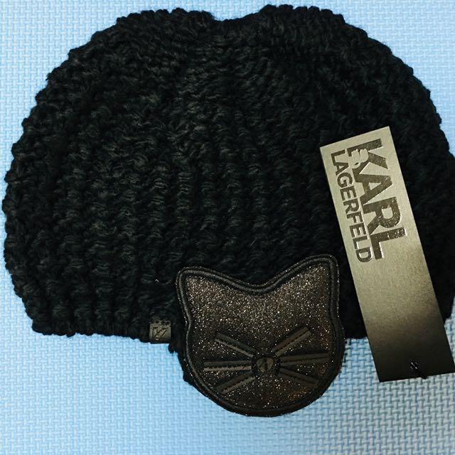 Karl Lagerfeld最新款貓咪毛線帽~現貨