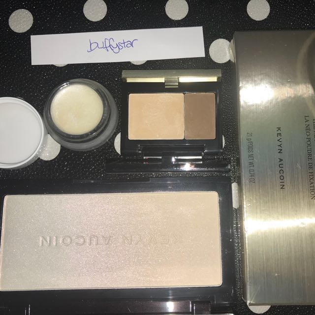 Kevyn Aucoin The Neo Setting Powder, Kevyn Aucoin Sculpting Duo, rms beauty Living Illuminizer