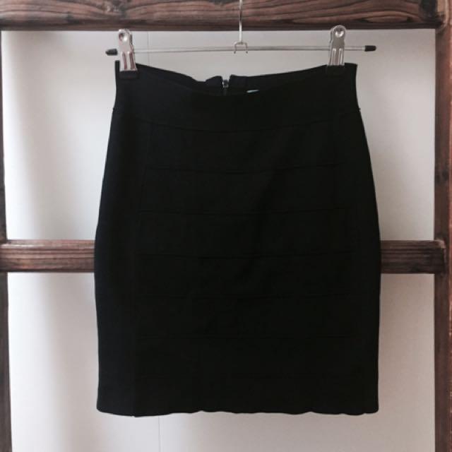 Kookai Black Skirt Size 1
