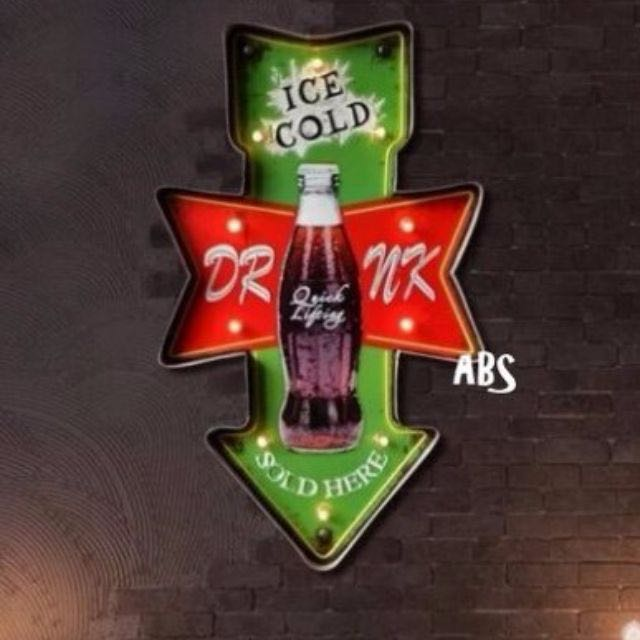 L129【ABS安伯家】『Drink Sold here』Loft工業風復古家居燈飾壁燈 店面酒吧適用