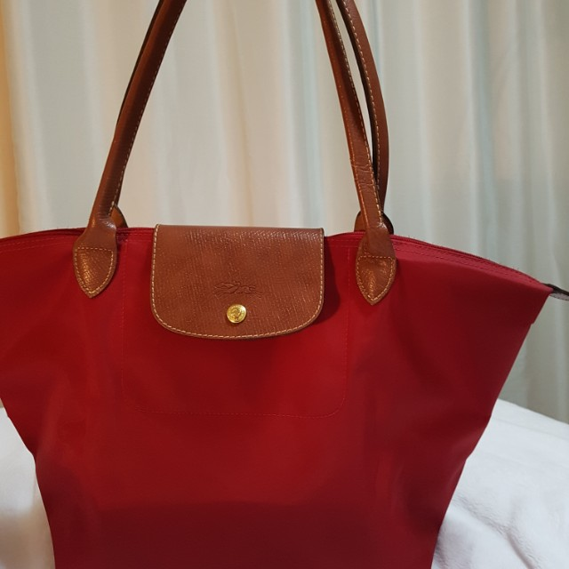 Large Red Longchamp Bag