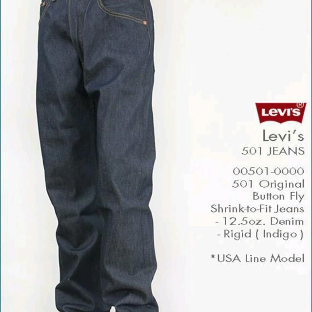 Levi's 501深藍 養褲專用 34腰
