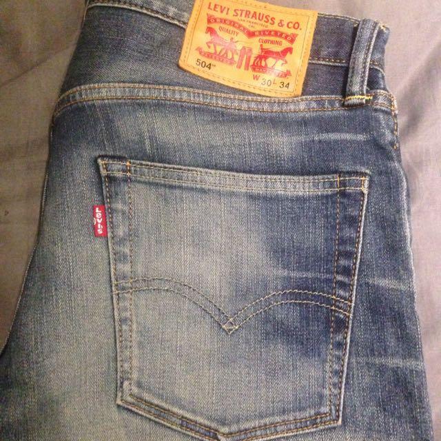 Levi's 504 刷色牛仔褲