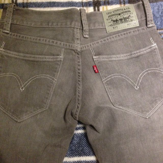 Levi's 511 灰色 淺刷 牛仔褲