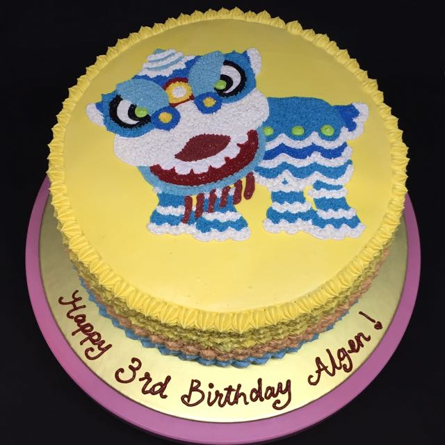 Lion Dance Cake Food Drinks Baked Goods on Carousell
