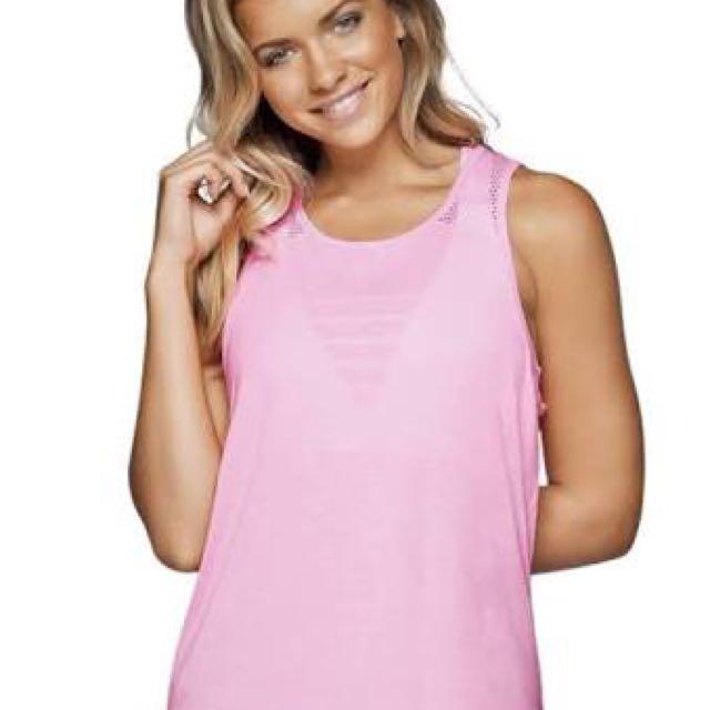 Lorna jane pink tank workout top