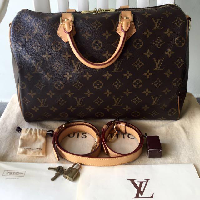 c1b20c77fbe Louis Vuitton Speedy 35 Bandouliere Monogram, Luxury, Bags & Wallets ...