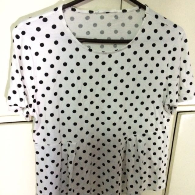 Mango medium polka dots blouse