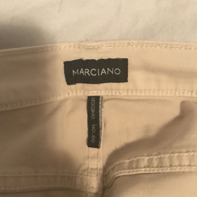 Marciano beige tight fit pants