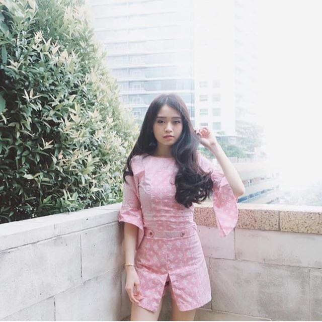 Melvee batik pink set