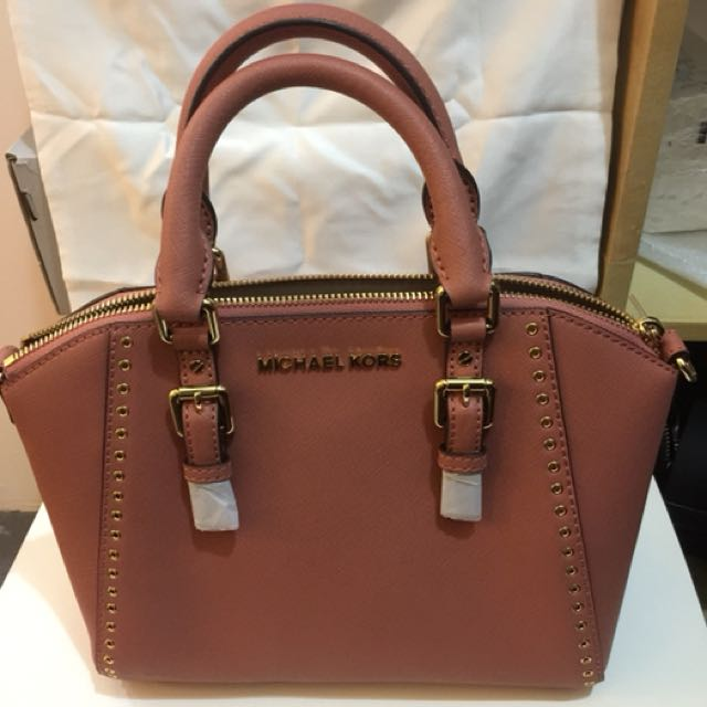 0ec07b8090c4 Michael Kors 👜🎟Ciara Grommet Medium Messenger - Antique Rose ...