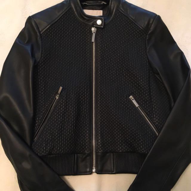 Michael Kors leather jacket (Size Medium)