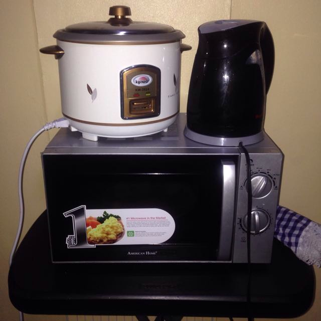 Microwave, Rice Cooker, Electric kettle