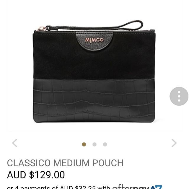 Mimco classico medium pouch