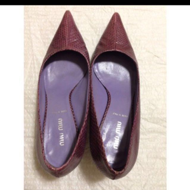 正品Miumiu 高跟鞋七成新37.5號