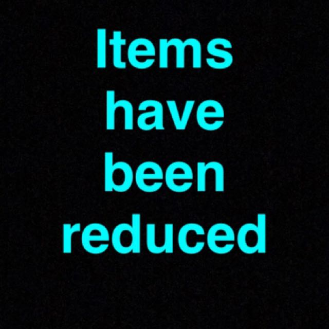 Most items have been re priced