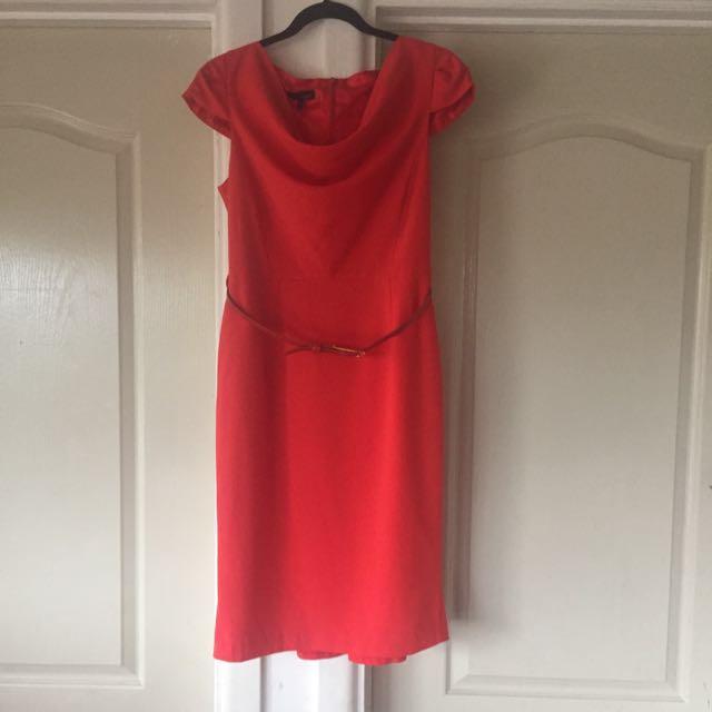 Next Cowl Neck Red Dress