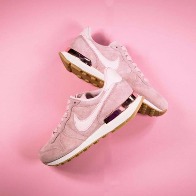 粉紅色nike麂皮玫瑰金鞋