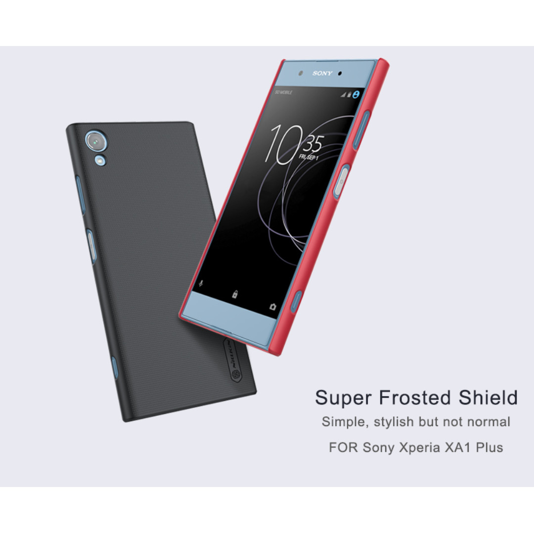 top quality Nillkin Super Frosted Shield Case Cover for Sony Xperia XA with Screen Protector Film