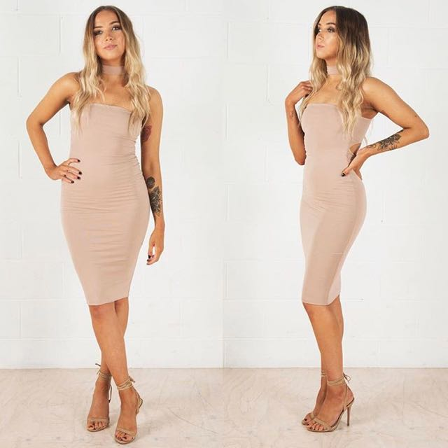 Nude Cut Out Midi